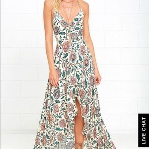 Lulu's floral high-low maxi dress